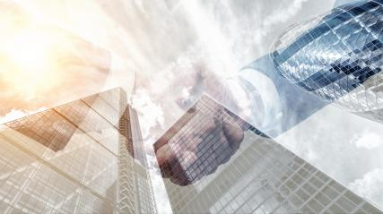 Business partnership meeting handshake Successful after good deal. double exposure skyscraper on the background : Stock Photo or Stock Video Download rcfotostock photos, images and assets rcfotostock | RC-Photo-Stock.: