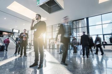 business people activity standing and walking in the lobby- Stock Photo or Stock Video of rcfotostock   RC-Photo-Stock