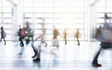 business people activity walking at tradeshow floor- Stock Photo or Stock Video of rcfotostock | RC-Photo-Stock