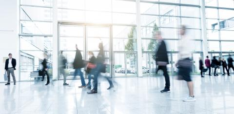 business people at a Exhibition abstract motion blur- Stock Photo or Stock Video of rcfotostock | RC-Photo-Stock