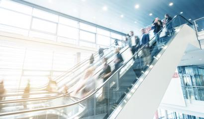 business people at a moving escalator- Stock Photo or Stock Video of rcfotostock | RC-Photo-Stock