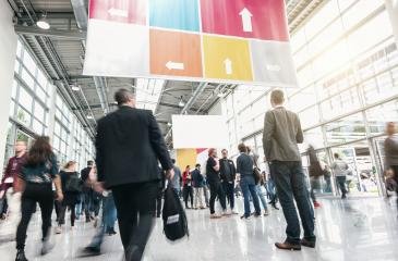 Business People at a trade fair- Stock Photo or Stock Video of rcfotostock | RC-Photo-Stock