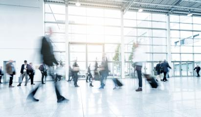business people at a trade fair abstract motion blur- Stock Photo or Stock Video of rcfotostock | RC-Photo-Stock
