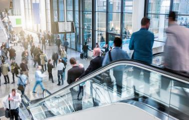 Business people at rush hour on a international trade fair- Stock Photo or Stock Video of rcfotostock | RC-Photo-Stock