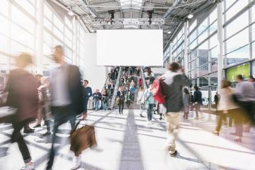 business people at rush hour on a trade fair- Stock Photo or Stock Video of rcfotostock | RC-Photo-Stock