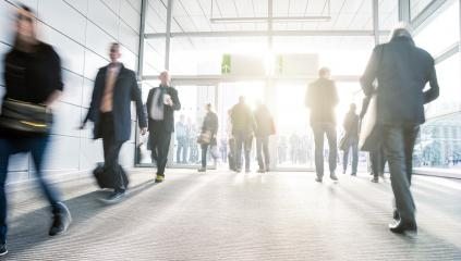 Business people at rush hour walking on a entrance- Stock Photo or Stock Video of rcfotostock | RC-Photo-Stock
