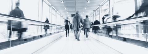 business people crowd at a air port, banner size- Stock Photo or Stock Video of rcfotostock | RC-Photo-Stock