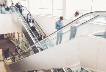 business people crowd at an escalator- Stock Photo or Stock Video of rcfotostock | RC-Photo-Stock