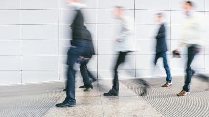 business people crowd walking in a corridor- Stock Photo or Stock Video of rcfotostock | RC-Photo-Stock