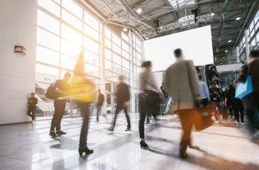 business people in rush at a tradeshow- Stock Photo or Stock Video of rcfotostock | RC-Photo-Stock