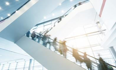 business people in rush at Exhibition escalators- Stock Photo or Stock Video of rcfotostock | RC-Photo-Stock