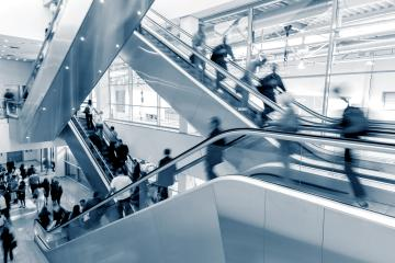 Business People rushing through on a escalator- Stock Photo or Stock Video of rcfotostock | RC-Photo-Stock