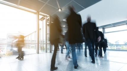 Business People rushing to a traid fair- Stock Photo or Stock Video of rcfotostock | RC-Photo-Stock