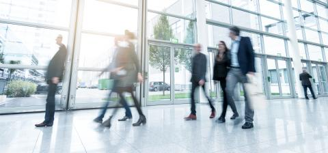 business people using a walkway- Stock Photo or Stock Video of rcfotostock | RC-Photo-Stock