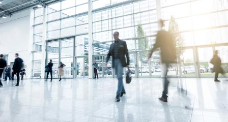Business People Walking at Rush Hour on a Exhibition- Stock Photo or Stock Video of rcfotostock | RC-Photo-Stock
