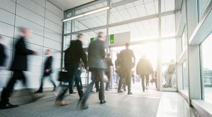 Business People Walking in a modern entrance- Stock Photo or Stock Video of rcfotostock | RC-Photo-Stock