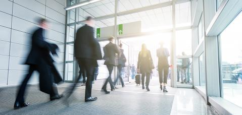 Business People Walking on a modern hall : Stock Photo or Stock Video Download rcfotostock photos, images and assets rcfotostock | RC-Photo-Stock.: