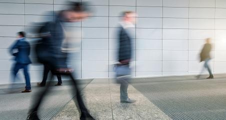Business People Walking Rush Hour Travel Waking Business Concept- Stock Photo or Stock Video of rcfotostock | RC-Photo-Stock
