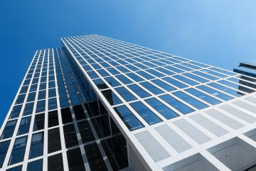 business skyscrapers, sunny blue sky- Stock Photo or Stock Video of rcfotostock | RC-Photo-Stock
