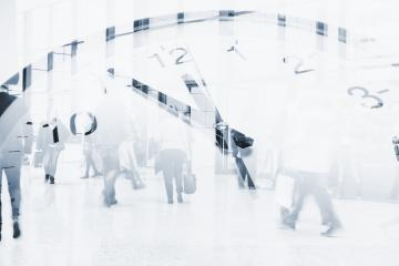 Business times hours concept people crowded walking overlay with time clock- Stock Photo or Stock Video of rcfotostock | RC-Photo-Stock