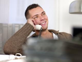 Businessman having conversation on telephone- Stock Photo or Stock Video of rcfotostock | RC-Photo-Stock