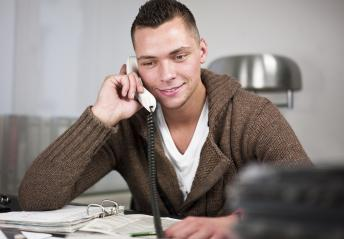 Businessman having conversation on telephone : Stock Photo or Stock Video Download rcfotostock photos, images and assets rcfotostock | RC-Photo-Stock.: