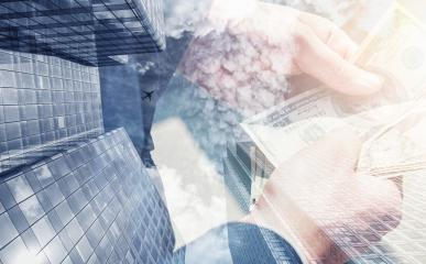 businessman holding and counting money. Skyscraper office building on Double exposure background- Stock Photo or Stock Video of rcfotostock | RC-Photo-Stock