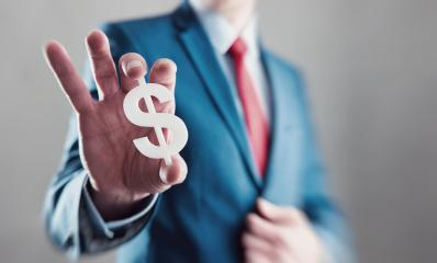 Businessman holding and presents a dollar sign- Stock Photo or Stock Video of rcfotostock | RC-Photo-Stock