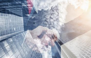 businessmans partnership handshake at the business district. Skyscraper office building on Double exposure background : Stock Photo or Stock Video Download rcfotostock photos, images and assets rcfotostock | RC-Photo-Stock.: