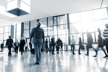 businesspeople walking at a Exhibition- Stock Photo or Stock Video of rcfotostock | RC-Photo-Stock