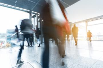 businesspeople walking in the corridor on a traid fair- Stock Photo or Stock Video of rcfotostock | RC-Photo-Stock