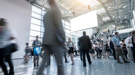 businesspeople walking International Trade Fair & Conference- Stock Photo or Stock Video of rcfotostock | RC-Photo-Stock