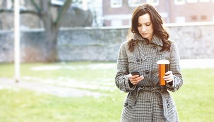 Businesswoman use her mobile phone : Stock Photo or Stock Video Download rcfotostock photos, images and assets rcfotostock | RC-Photo-Stock.: