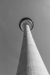 Calgary Tower in black and white colors, canada- Stock Photo or Stock Video of rcfotostock | RC-Photo-Stock