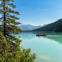 Canoeing on the Lake Louise in banff canada  : Stock Photo or Stock Video Download rcfotostock photos, images and assets rcfotostock | RC-Photo-Stock.: