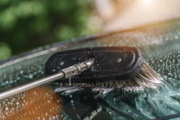 Car cleaning. Wash car with soap and brush- Stock Photo or Stock Video of rcfotostock | RC-Photo-Stock