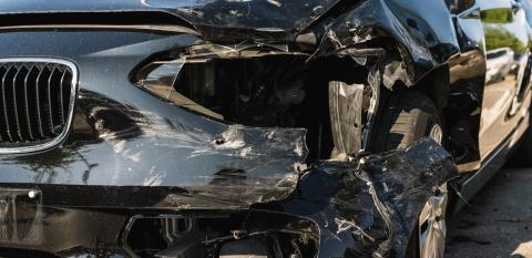Car crash or accident. Front fender and light damage and scratchs on bumper. Broken vehicle detail or close up. - Stock Photo or Stock Video of rcfotostock | RC-Photo-Stock