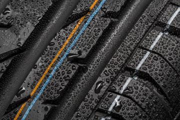 Car tire aquaplaning risk tire with raindrops : Stock Photo or Stock Video Download rcfotostock photos, images and assets rcfotostock | RC-Photo-Stock.: