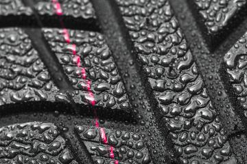 Car tires close-up Winter wheel profile structure with water drops on white background- Stock Photo or Stock Video of rcfotostock | RC-Photo-Stock
