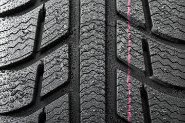 Car tires close-up Winter wheel profile structure with waterdrops- Stock Photo or Stock Video of rcfotostock | RC-Photo-Stock