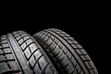 Car tires close-up Winter wheels profile structure on black background- Stock Photo or Stock Video of rcfotostock | RC-Photo-Stock