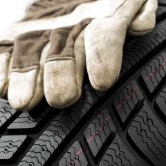 Car tires close-up with glove Winter wheel profile structure on white background : Stock Photo or Stock Video Download rcfotostock photos, images and assets rcfotostock | RC-Photo-Stock.: