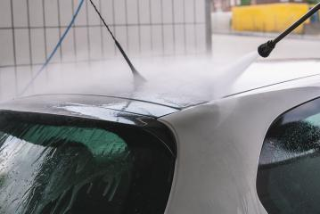 Car Wash Cleaning Car Using High Pressure Water- Stock Photo or Stock Video of rcfotostock | RC-Photo-Stock
