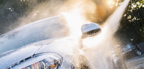 Car Wash Closeup. Washing Modern Car by High Pressure Water.- Stock Photo or Stock Video of rcfotostock | RC-Photo-Stock