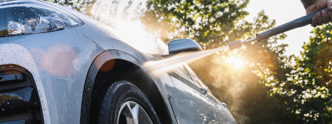 Car Wash Closeup. Washing Modern Car by High Pressure Water.- Stock Photo or Stock Video of rcfotostock   RC-Photo-Stock