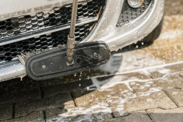 car wash with brush and soap outside- Stock Photo or Stock Video of rcfotostock | RC-Photo-Stock