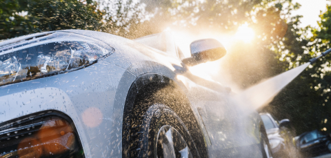 Car washing. Cleaning Car Using High Pressure Water.  : Stock Photo or Stock Video Download rcfotostock photos, images and assets rcfotostock | RC-Photo-Stock.: