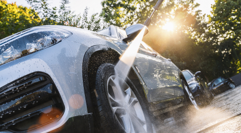 Car washing. Cleaning Car Using High Pressure Water. - Stock Photo or Stock Video of rcfotostock | RC-Photo-Stock
