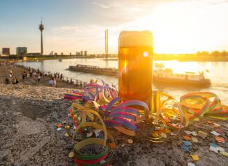 carnival at dusseldorf with old beer (Altbier)- Stock Photo or Stock Video of rcfotostock | RC-Photo-Stock