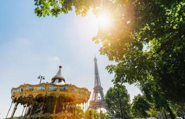 Carousel in park near the Eiffel tower in Paris- Stock Photo or Stock Video of rcfotostock | RC-Photo-Stock
